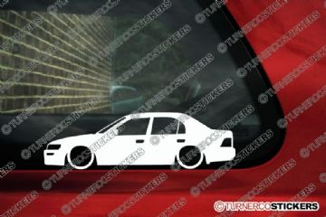 2x Low car outline stickers Toyota Corolla Ae100 sedan (1991-1995) JDM